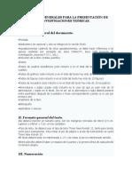 Criterios Generales Para La Presentación de Investigaciones Teóricas