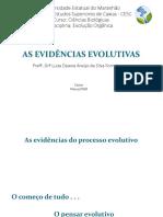 As Evidências Evolutivas
