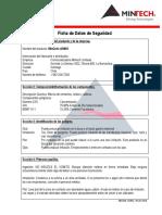 Ficha de Seguridad - MinCrete AG903