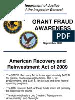 DOJ - GrantFraudPresentation- 2009