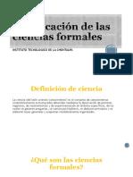 Clasificación de Las Ciencias Formales