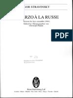 Stravinsky, Igor - Scherzo a La Rusa - Ensamble de Jazz - Score