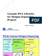 1. Genomic DNA Libraries for Shotgun Sequencing Projects