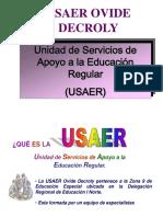 Funciones de Usaer Ovide Decroly