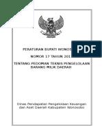 COVER Perbup 17 Tahun 2011