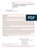 Diagnostic Accuracy of Physical Examination Tests of the Ankle-foot Complex - A Systematic Review.