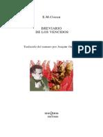 Emil Cioran Breviario de Los Vencidos