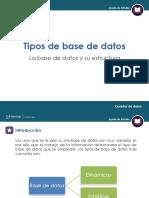 Curador de Datos. Infografía 3. Tipos de Bases de Datos. Las Bases de Datos y Su Estructura