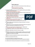Aramco Audit Check List