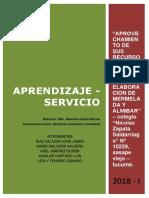 APRENDIZAJE DE SERVICIO - TUCUME