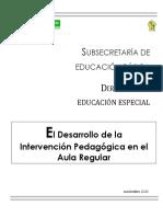 El Desarrollo Intervención PedagógicaAula Regular 2013.pdf