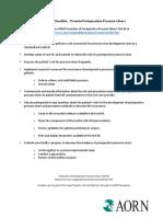 Sample Prevent Periop Pressure Ulcers Checklist