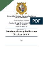 Info Lab 07 Condensadores y Bobinas en Circuitos de C.C.