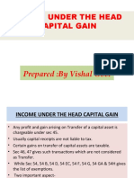 Income From Capital Gain by Vishal Goel
