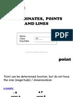 MATEMATICS HO Coordinate, Point & Line