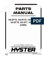 HYSTAR Forklift 5-ton parts manual