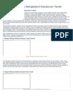 4 Cara Sederhana Mengetahui Kesuburan Tanah.docx