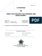 SYNOPSIS ON NEED FOR STRATEGY FOR TRAINING AND DEVELOPMENT.docx