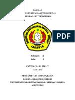 Makalah Manajemen Keuangan Internasional