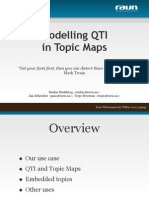 Modelling IMS QTI with Topic Maps