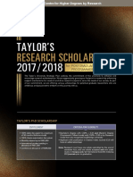 Taylor's Research Scholarship Leaflet