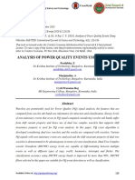 ANALYSIS OF POWER QUALITY EVENTS USING WAVELETS