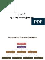 Quality Management Unit-2
