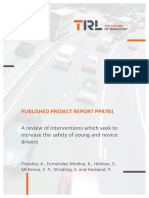 Pressley Et Al Interventions to Increase Young and Novice Driver Safety