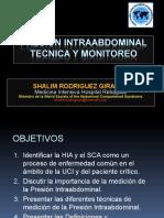 Presion Intraabdominal Tecnica y Monitoreo