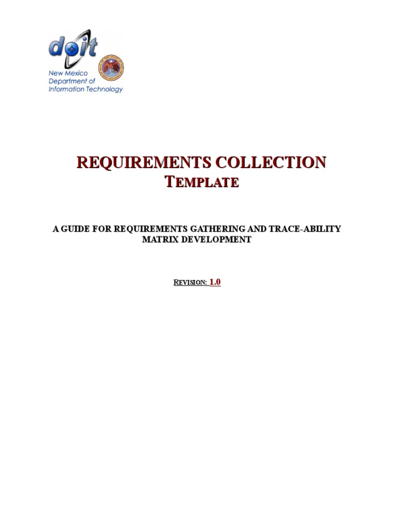 DoIT_RequirementsCollectionTemplate doc | Use Case | Systems