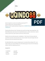 Judi Online or Online Gambling Qqindo88-Converted