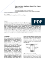 Contact Stiffness Characteristics of Paper-Based Wet Clutch