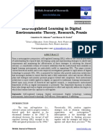 Selfregulated Learning in Digital Environments Theory Research Praxis