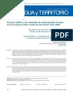 El poder público y las compañías de abastecimiento de agua en la Provincia de Rio Grande do Sul, Brasil (1822-1889)