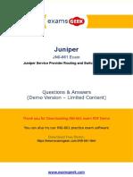 Juniper JNCIS-SP JN0-661Exam Preparation Material For Best Result