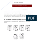 13th Guitar Chord Chart and Fingering