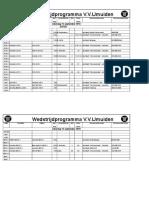 2018-9-15 schema voor as zaterdag