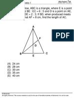 QA Worksheet Geometry I