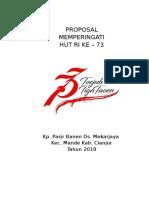 Proposal HUR RI 2018