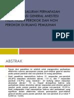 efektifitas intubasi pada perokok dan non perokok