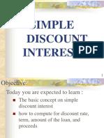 4. Simple Discount Interest.ppt