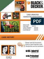 Case Analysis - Black & Decker - Group 1