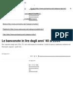 Le Banconote in Lire Dagli Anni '40 Al 2000