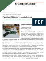 Pantallas LCD Con Microcontroladores