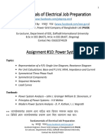 Assignment on Power System Fundamentals of Electrical Job Preparation