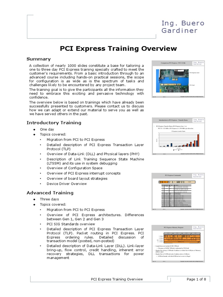 PCIexpress Training | Physical Layer Protocols | Areas Of