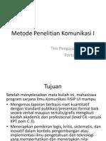 Metode Penelitian Komunikasi I_pertemuan 1