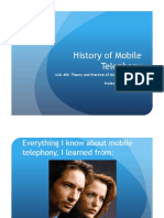 history of mobile telephony