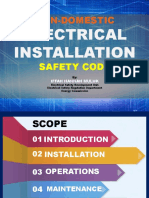 Presentation_Non-domestic Electrical Installation Safety Code