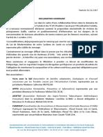 Déclaration SAF 31.01.17